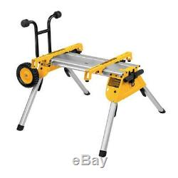 Dewalt DE7400 Heavy Duty Table Saw Rolling Leg Stand Work Station DW744 DW745
