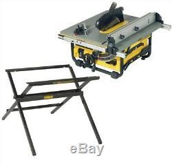 Dewalt DW745 Heavy Duty Lightweight Table Saw with DE7450 Leg Stand 240v
