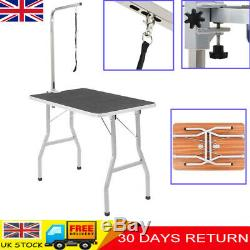 Dog Cat Pet Bath Grooming Beauty Table Adjustable Folding Shower Table Portable