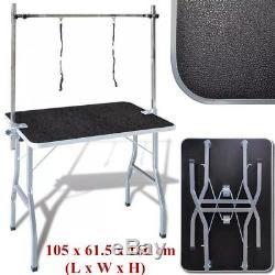 Dog Pet Cat Grooming Beauty Table Adjustable Folding Bath Table 2 Loop Arm UK