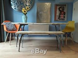 EAMES INSPIRED HEAVY DUTY metal table legs handmade in the uk and unique design
