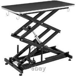 Electric Lifting Pet Dog Grooming Table 440lbs Rubber Plastic Metal Bath Drying