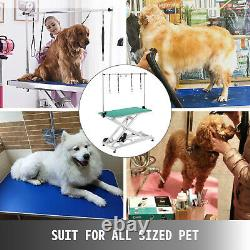 Electric Lifting Pet Dog Grooming Table Non-Slip lockable wheels All metal edge