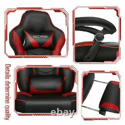 Ergonomic Office Gaming Chair Computer Desk Table Swivel PU Recliner Footrest UK