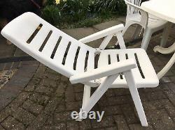 Extending Heavy Duty Garden Table Furniture Set with 8 Armchairs and 2 Recliners
