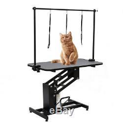 Extra Large Heavy Duty Hydraulic Dog Bath Grooming Table Professional H Bar &Arm