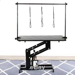 Extra Large Professional Hydraulic Dog Grooming Dressing Table With Arm 3 Leash