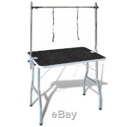 Foldable Dog Grooming Table Cleaning Trimming Table Pet Cat With Arm 2 Loops