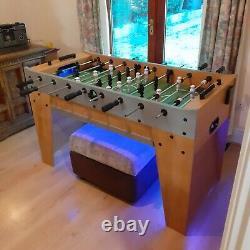 Football Table Foos Ball Table Heavy Duty Good Condition LED Lighting