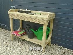 Garden Potting Table/Bench Heavy Duty Treated Timber comes fully assembled