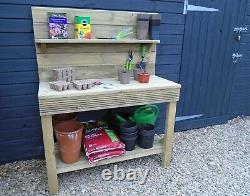 Garden Potting Table/bench/Workstation heavy duty treated timber