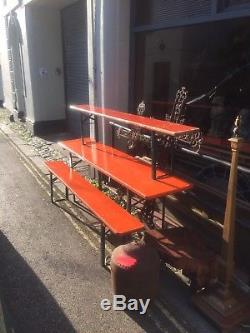 German Beer Bench Sets Heavy Duty Vintage Garden Industrial Dinning Table Chair