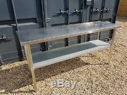 HEAVY DUTY STAINLESS STEEL WORK TABLE 1800 mm wide