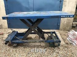 HYDRAULIC WORK BENCH LIFT TABLE STATIC 1000KG HEAVY DUTY NOT ELECTRIC 2m X 1m