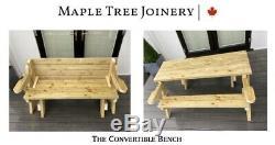 Handmade Folding Picnic Table/Bench Heavy Duty Pressure Treated