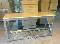 Heavy Duty 2 Tier Garage Work Table with 25mm Plywood Table Top