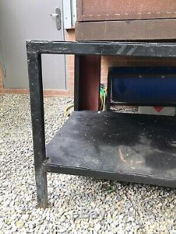 Heavy Duty 2m Steel Metal Workbench Workstation Unit Garage Workshop DIY Table