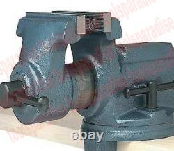 Heavy Duty 4 CLAMP ON VISE BENCH TOP TABLE SWIVEL SPINNING BASE VICE