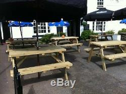 Heavy Duty A-frame Wooden Garden / Pub Picnic Table