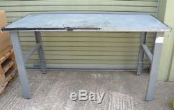 Heavy Duty Adjustable Height Steel Topped Work Bench / Table 1.8m x 0.8m