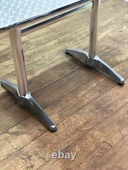 Heavy Duty Aluminium Outdoor Garden Restaurant Pub Bar Bistro 1100mm Table