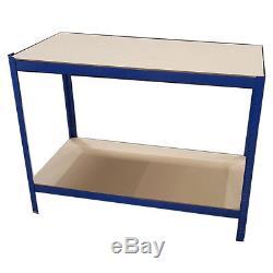Heavy Duty Blue Metal Work Bench Garage Workshop Table Top Workbench Station DIY