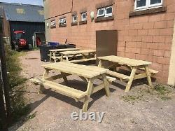 Heavy Duty Commercial Grade Picnic Table Seats 6-8 People