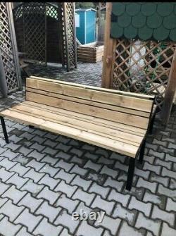 Heavy Duty Commercial Seating, Wooden Garden bench, Outdoor, Garden table