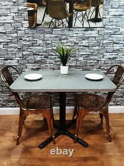 Heavy Duty Contract quality Cement Effect Restaurant Bar Bistro Table 1000mm