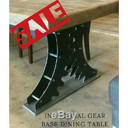 Heavy Duty Dining Table Metal Base Legs Industrial Gears Iron Steel