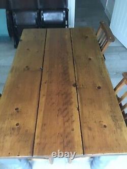 Heavy Duty Farmhouse Solid Oak Dining Table