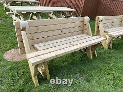 Heavy Duty Folding Garden Picnic Table Bench