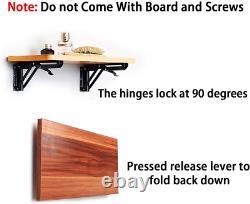 Heavy Duty Folding Shelf Bracket Metal Triangle Table Bench Hinge Wall Mount 12