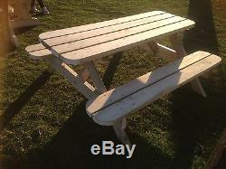 Heavy Duty Garden Picnic Table / Pub Bench 1.8M/6ft NO Self Assembly required