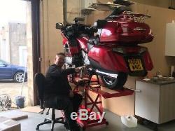 Heavy Duty Hydraulic Motorcycle Mechanics Garage Workshop Table Bench Lift