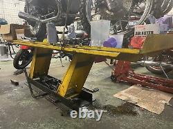 Heavy Duty Hydraulic motorcycle work bench Bike Table Chopper Bench Harley Lift