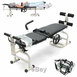 Heavy Duty Massage Table Therapy Bed Cervical Spine Lumbar Traction Stretching