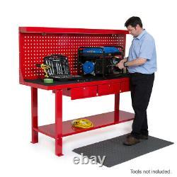 Heavy Duty Metal Garage Work Station Bench Table Locking Drawers 2 Metre