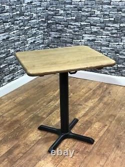 Heavy Duty Solid Oak Dining Table 700x600mm Restaurant Bistro Pub Bar