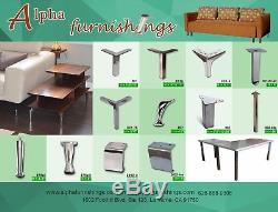 Heavy Duty Stainless Metal Table Legs 28 Inch U Shape for Dining Table Desk 2PC