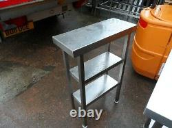 Heavy Duty Stainless Steel 3 Tier Infill Table 250 x 600 mm £100 + Vat