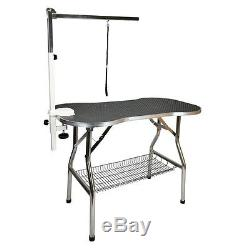 Heavy Duty Stainless Steel Pet Dog Portable Grooming Table 32x21 by Flying Pig