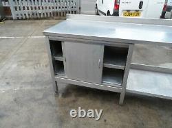 Heavy Duty Stainless Steel Table Cupboard 2650 x 650 mm £300 + Vat