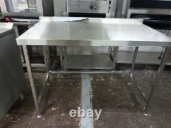 Heavy Duty Stainless Steel Work Table 1320mm Wide