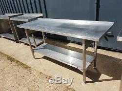 Heavy Duty Stainless Steel Work Table 1800mm