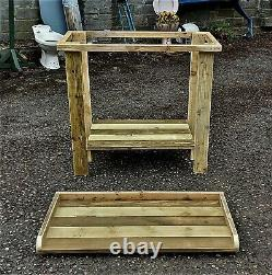 Heavy Duty /robust Potting Table Handmade In Devon From Treated Reclaimed Timber
