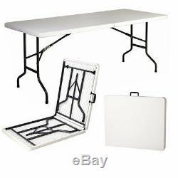Heavy-duty Folding Table 6ft Camping Caravan Picnic Banquet Party Garden Bbq