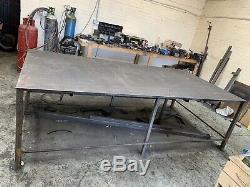 Heavy duty metal work bench table