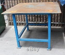 Heavy duty welding bench fabrication table 12mm steel top 1200x1200x930 Adelaide