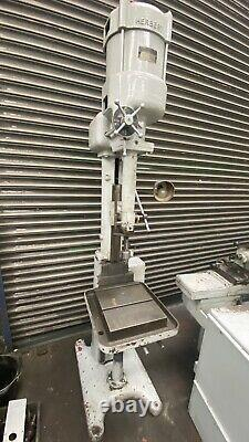 Herbert Heavy Duty Single Spindle Drill Rise & Fall Table Jacob Chuck